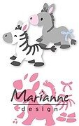 Eline's Zebra and Donkey - Marianne Design Collectables Die