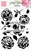 Roses Colorful Silhouette - Clear Stamp
