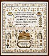 Elizabeth Oliver Sampler - Cross Stitch Pattern