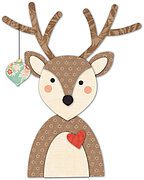 Memory Box Decorated Deer Christmas Die