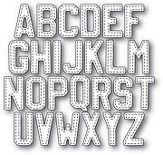 Alphabet Plain Upper Case Steel Die for Scrapbooking DIE158H