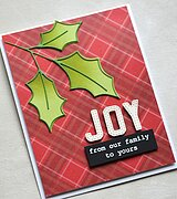 Scribble Holly Trio Outline - Christmas Memory Box Craft Die