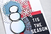 Scribble Snowman Outline - Christmas Memory Box Craft Die