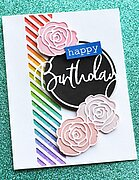 Birthday Cursive Script Circle - Craft Die