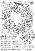 Tidings Wreath - Christmas Clear Stamp