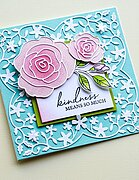 Peony Garden Corner - Clear Stamp and Die Set