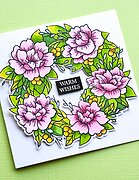 Peony Garden Wreath - Clear Stamp and Die Set