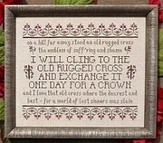 The Old Rugged Cross - Cross Stitch Pattern