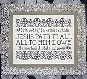 Jesus Paid It All - Cross Stitch Pattern