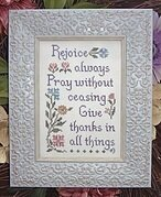 Pray Without Ceasing - Cross Stitch Pattern