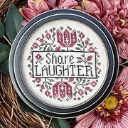 Share Laughter - Cross Stitch Pattern