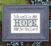 Wait in Hope - Cross Stitch Pattern