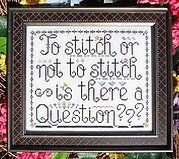 To Stitch or Not to Stitch - Cross Stitch Pattern