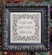 Joyful, Patient, Faithful - Cross Stitch Pattern