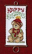 Happy Holidays Bear - Beaded Cross Stitch Kit
