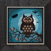 Midnight Owl - Beaded Cross Stitch Kit