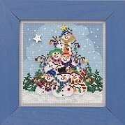 Snowman Pile - Beaded Cross Stitch Kit