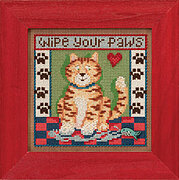 Kitty Paws - Beaded Cross Stitch Kit