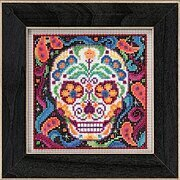 Sugar Skull - Beaded Cross Stitch Kit