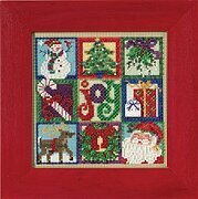 Joy of Christmas (2015) - Beaded Cross Stitch Kit