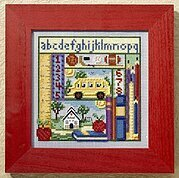 School Days - Beaded Cross Stitch Kit