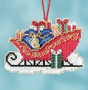 Traditional Sleigh - Beaded Cross Stitch Kit