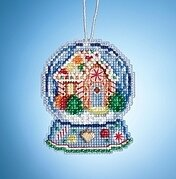 Gingerbread House Snow Globe - Beaded Kit