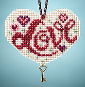 Love - Beaded Cross Stitch Kit