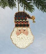 Santa's Hat - Beaded Cross Stitch Kit