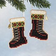 Santa's Boots - Beaded Cross Stitch Kit