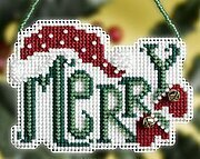 Merry Winter Greeting - Beaded Cross Stitch Kit