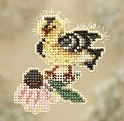 Goldie Finch - Beaded Cross Stitch Kit