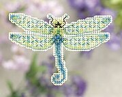 Dragonfly - Beaded Cross Stitch Kit