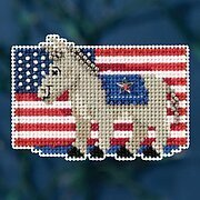 Patriotic Blue - Beaded Cross Stitch Kit