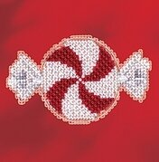 Peppermint Candy - Beaded Cross Stitch Kit
