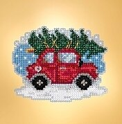 Tree Shopping - Beaded Cross Stitch Kit