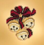 Jingle Bell Trio  - Beaded Cross Stitch Kit