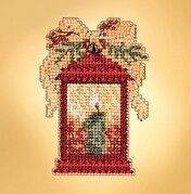 Christmas Lantern - Beaded Cross Stitch Kit