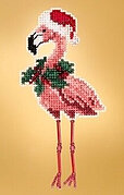 Holiday Flamingo - Beaded Cross Stitch Kit