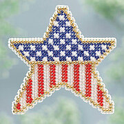 Patriotic Star - Beaded Cross Stitch Kit