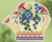 Floral Watering Can - Beaded Cross Stitch Kit