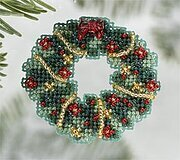 Holly Wreath 2006 - Beaded Cross Stitch Kit