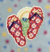 Flip Flops - Beaded Cross Stitch Kit