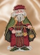 Venice Santa - Renaissance Santas - Beaded Cross Stitch