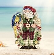 Trinidad Santa - Caribbean Santas - Beaded Cross Stitch