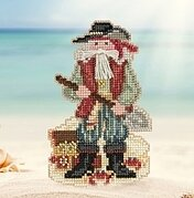 Barbados Santa - Caribbean Santas - Beaded Cross Stitch