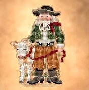 Pampas Santa - Beaded Cross Stitch Kit