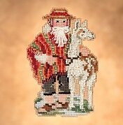 Andes Santa- Beaded Cross Stitch Kit