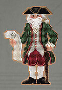 Williamsburg Santa - Colonial Santas Beaded Cross Stitch Kit