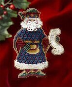 Canterbury Santa - Medieval Santas - Beaded Cross Stitch Kit